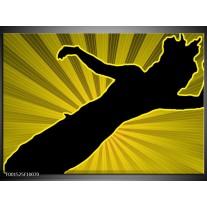 Foto canvas schilderij Dansen   Geel, Zwart