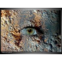 Glas schilderij Oog | Grijs, Geel