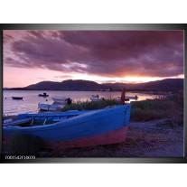 Foto canvas schilderij Boot | Blauw, Grijs