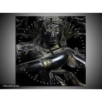 Wandklok op Canvas Religie | Kleur: Grijs, Zwart, Zilver | F001546C