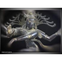 Glas schilderij Religie | Grijs, Zwart, Zilver
