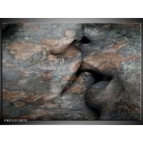 Glas schilderij Stenen | Grijs, Bruin