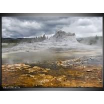 Glas schilderij Natuur | Grijs, Wit, Bruin