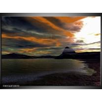 Glas schilderij Zee | Grijs, Wit, Zwart