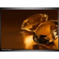 Glas schilderij Stenen   Bruin, Geel