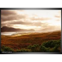 Glas schilderij Natuur | Geel, Wit, Bruin