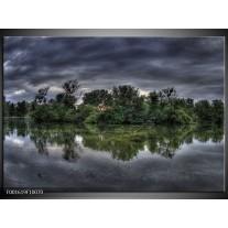 Glas schilderij Natuur | Groen, Grijs, Wit