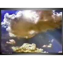 Foto canvas schilderij Wolk | Wit, Grijs, Blauw