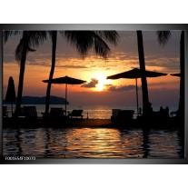 Glas schilderij Uitzicht | Zwart, Geel, Paars