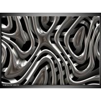 Foto canvas schilderij Abstract | Grijs, Zilver, Zwart