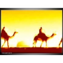 Foto canvas schilderij Kameel | Geel, Oranje, Zwart