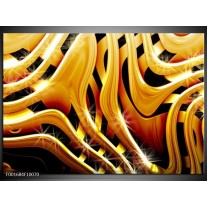 Foto canvas schilderij Abstract | Goud, Geel, Zwart