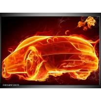 Glas schilderij Auto | Goud, Rood, Geel