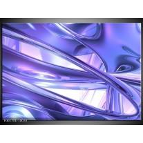 Glas schilderij Abstract | Blauw, Wit, Paars