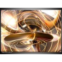 Foto canvas schilderij Abstract | Goud, Wit, Bruin