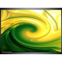 Glas schilderij Abstract | Geel, Groen