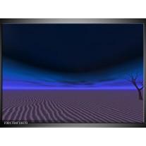 Glas schilderij Natuur | Blauw, Zwart