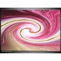 Glas schilderij Abstract | Rood, Wit