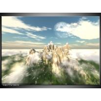 Glas schilderij Natuur | Wit, Groen, Grijs