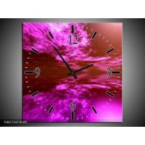 Wandklok op Canvas Abstract | Kleur: Paars, Zwart | F001724C