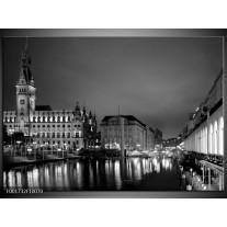 Foto canvas schilderij Gebouw   Grijs, Zwart, Wit