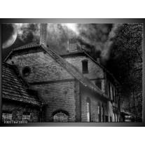 Glas schilderij Gebouw | Grijs, Zwart, Wit