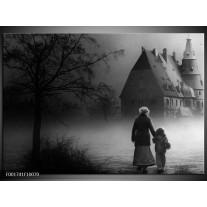 Foto canvas schilderij Gebouw | Grijs, Zwart, Wit