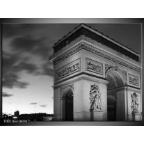 Glas schilderij Parijs | Grijs, Zwart, Wit