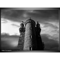 Glas schilderij Toren | Grijs, Zwart, Wit