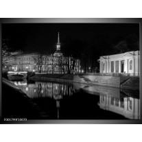Glas schilderij Stad   Grijs, Zwart, Wit