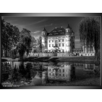 Glas schilderij Natuur | Grijs, Zwart, Wit