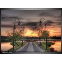 Foto canvas schilderij Natuur | Grijs, Zwart, Groen