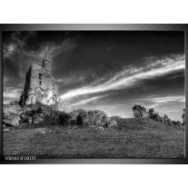 Glas schilderij Natuur | Zwart, Wit, Grijs