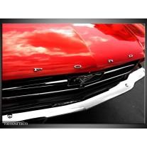 Glas schilderij Ford   Rood, Zwart