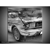 Wandklok op Canvas Mustang   Kleur: Zwart, Wit, Grijs   F001827C