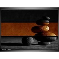 Glas schilderij Stenen | Sepia, Bruin