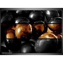 Glas schilderij Ballen   Sepia, Bruin
