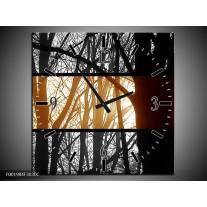 Wandklok op Canvas Natuur | Kleur: Sepia, Bruin | F001984C