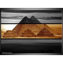 Foto canvas schilderij Piramide | Sepia, Bruin
