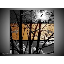 Wandklok op Canvas Natuur | Kleur: Sepia, Bruin | F002019C
