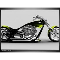 Foto canvas schilderij Motor | Grijs, Zwart, Groen