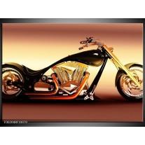 Foto canvas schilderij Motor   Oranje, Bruin, Geel