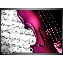Glas schilderij Instrument | Zwart, Wit, Roze