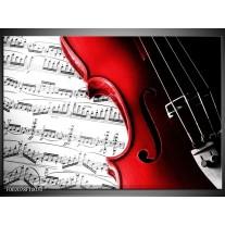 Glas schilderij Instrument | Zwart, Wit, Rood