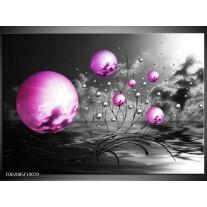 Glas schilderij Ballen | Paars, Zwart, Grijs