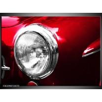 Foto canvas schilderij Auto | Rood, Wit, Zilver