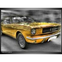 Foto canvas schilderij Mustang | Zwart, Grijs, Geel