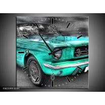 Wandklok op Canvas Mustang   Kleur: Zwart, Grijs, Blauw   F002199C