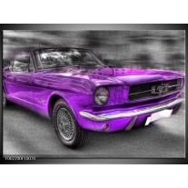 Foto canvas schilderij Mustang | Zwart, Grijs, Paars