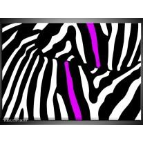 Glas schilderij Abstract | Zwart, Wit, Paars